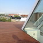 Dachterrasse-Glas