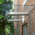 Designer-Glas-Vordach